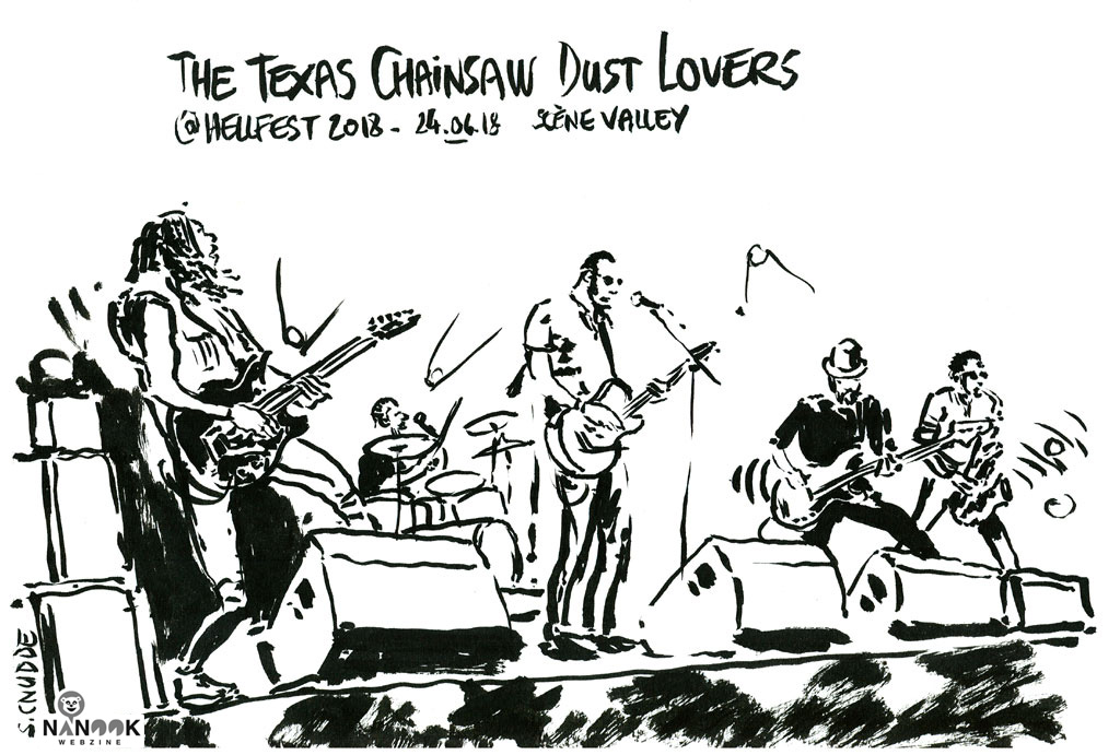 the-texas-chainsaw-dust-lovers-nanook-webzine-hellfest-2018-copyright-sylvain-cnudde-dessins-concerts-live-croquis-festival-metal-rock-clisson