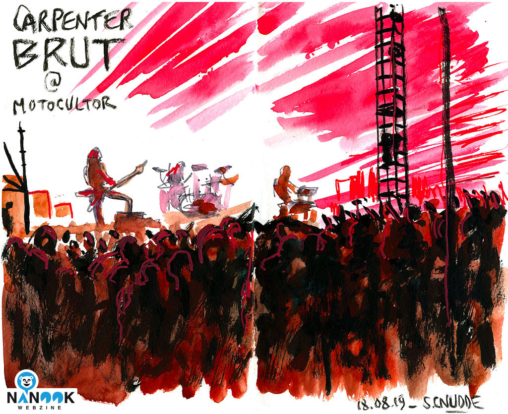 Carpenter_Brut-concert-festival-motocultor-2019-nanook-webzine-report-article-sylvain-cnudde-dessins-direct-live-croquis